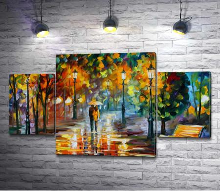 Двое под дождем - Леонид Афремов