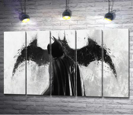 Герой вселенной DC - Бетмен черно-белый