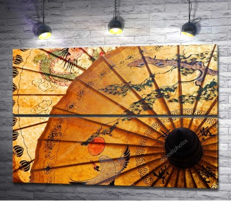 Старинный японский зонтик