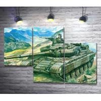 Танк Т-64 в горах
