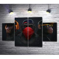Три стильные обезьяны
