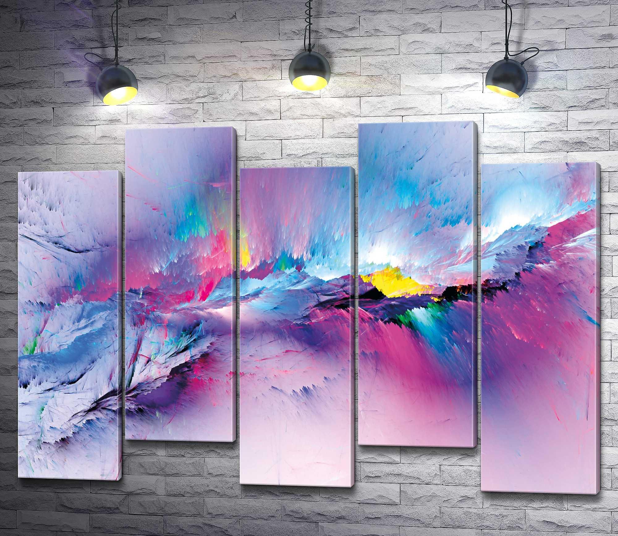 """Картина """"Цветные облака"""" из 5-и частей (модуль №31)"""