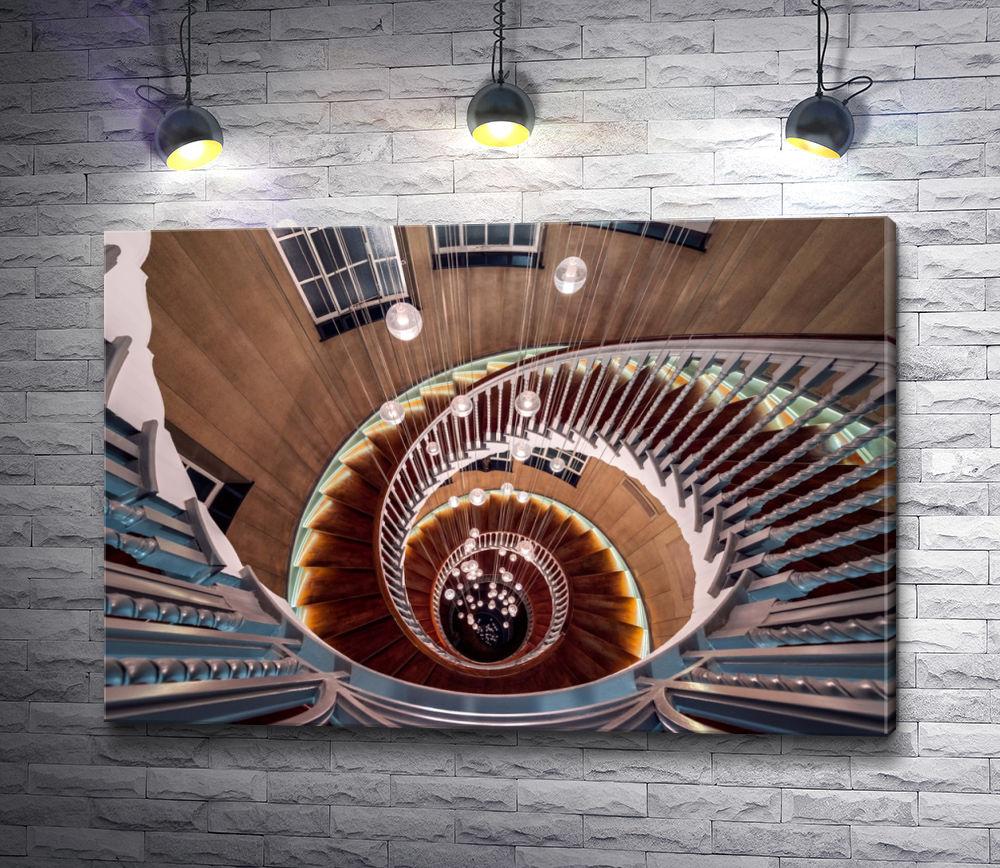 """Картина """"Винтовая лестница. Фоторабота Отто Беркли."""""""