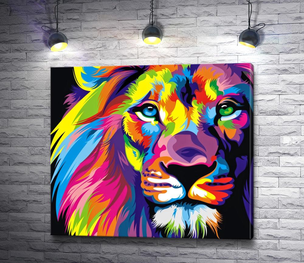 """Картина """"Радужный лев"""""""