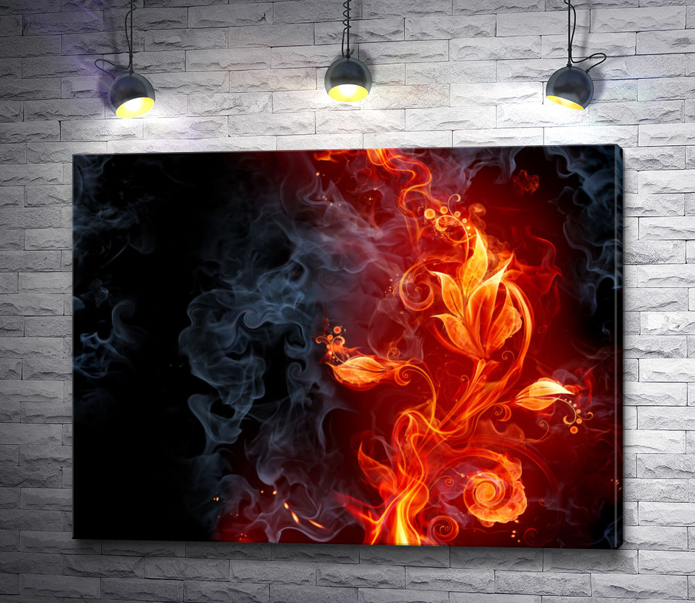 "Картина ""Огненный цветок"""