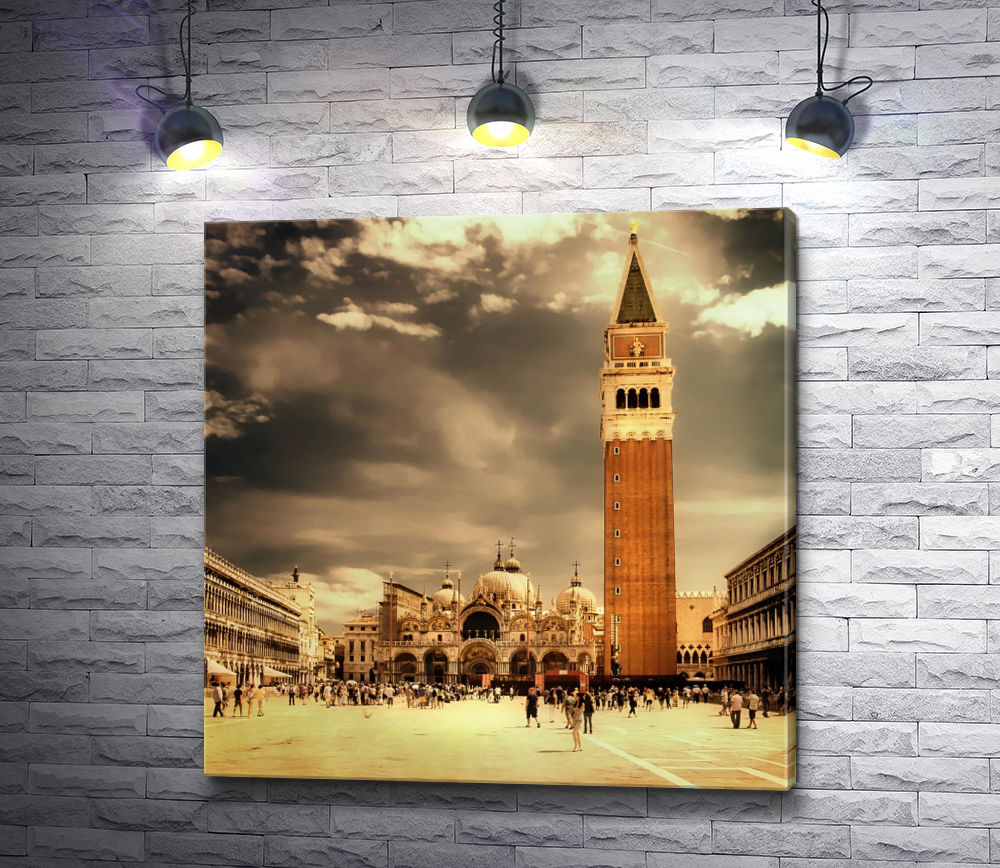 "Картина ""Площадь перед Собором Святого Марка. Венеция"""