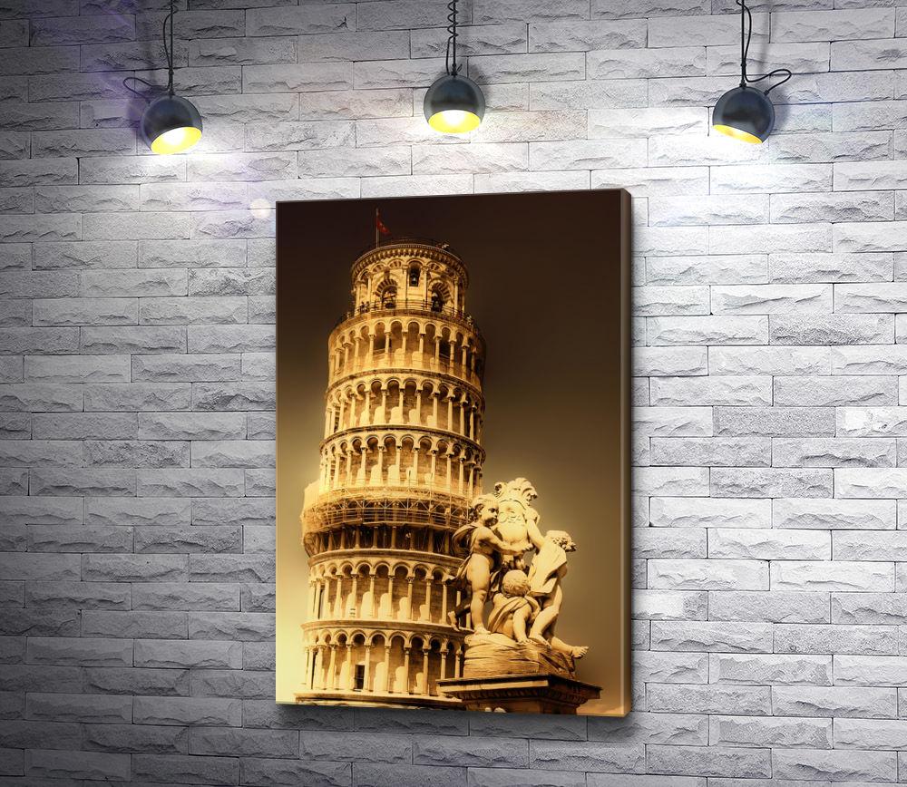 """Картина """"Вид на Пизанскую башню, Пиза"""""""