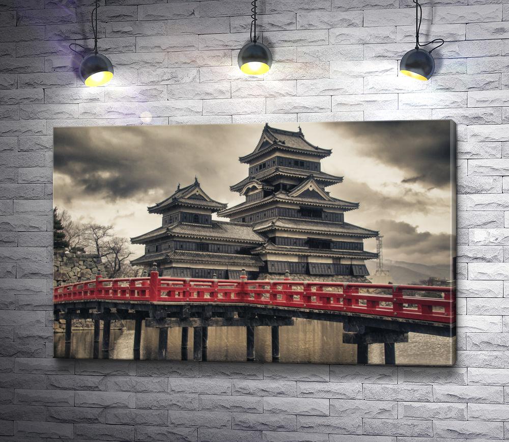 "Картина ""Старинный японский замок Мацумото"""