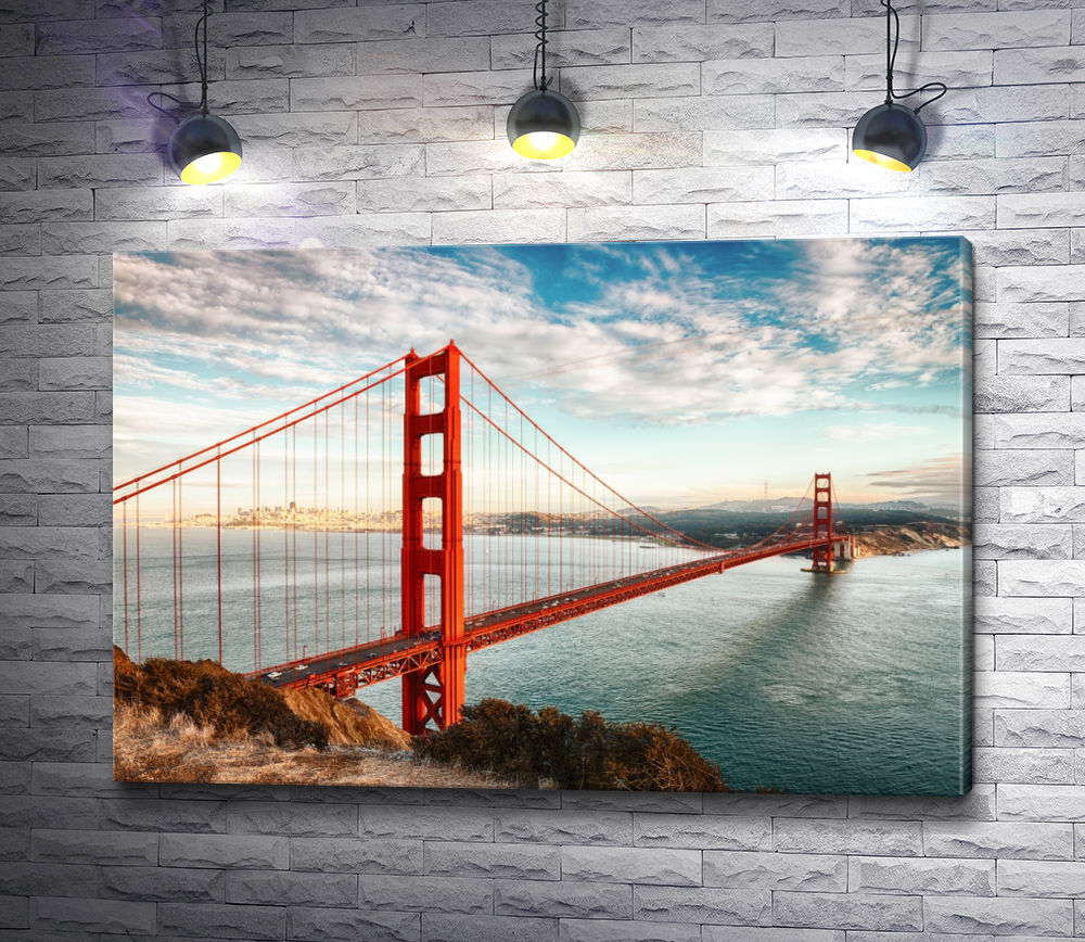 "Картина ""Висячий мост ""Золотые Ворота"" в Сан-Франциско"""
