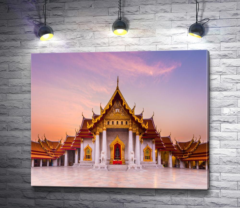 "Картина ""Закат над Храмом Неба в Пекине"""