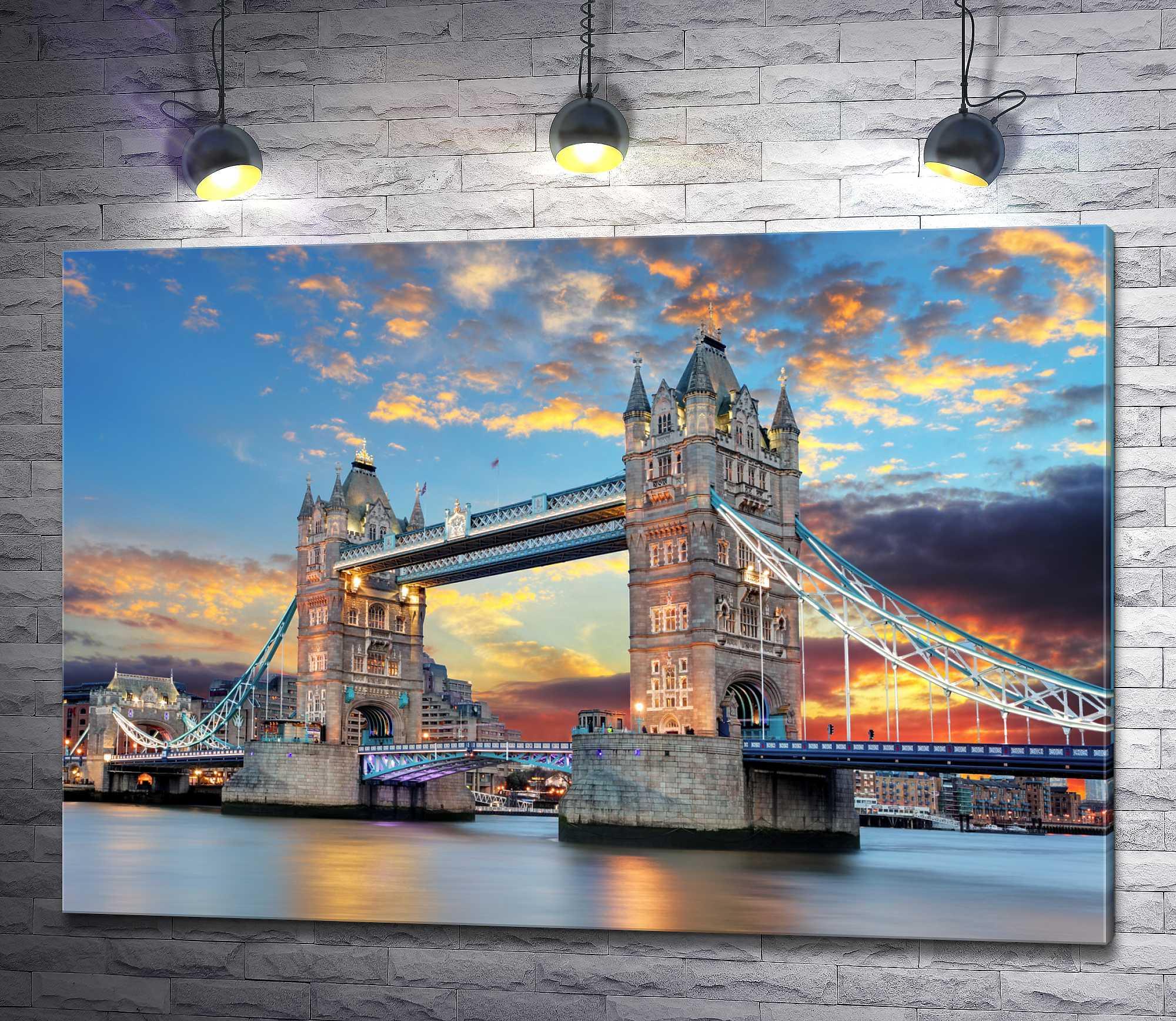 "Картина ""Закат над Тауэрским мостом, Лондон"""