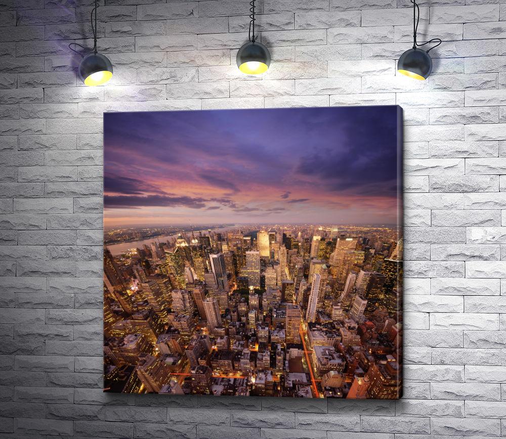 """Картина """"Панорама современного Нью-Йорка"""""""
