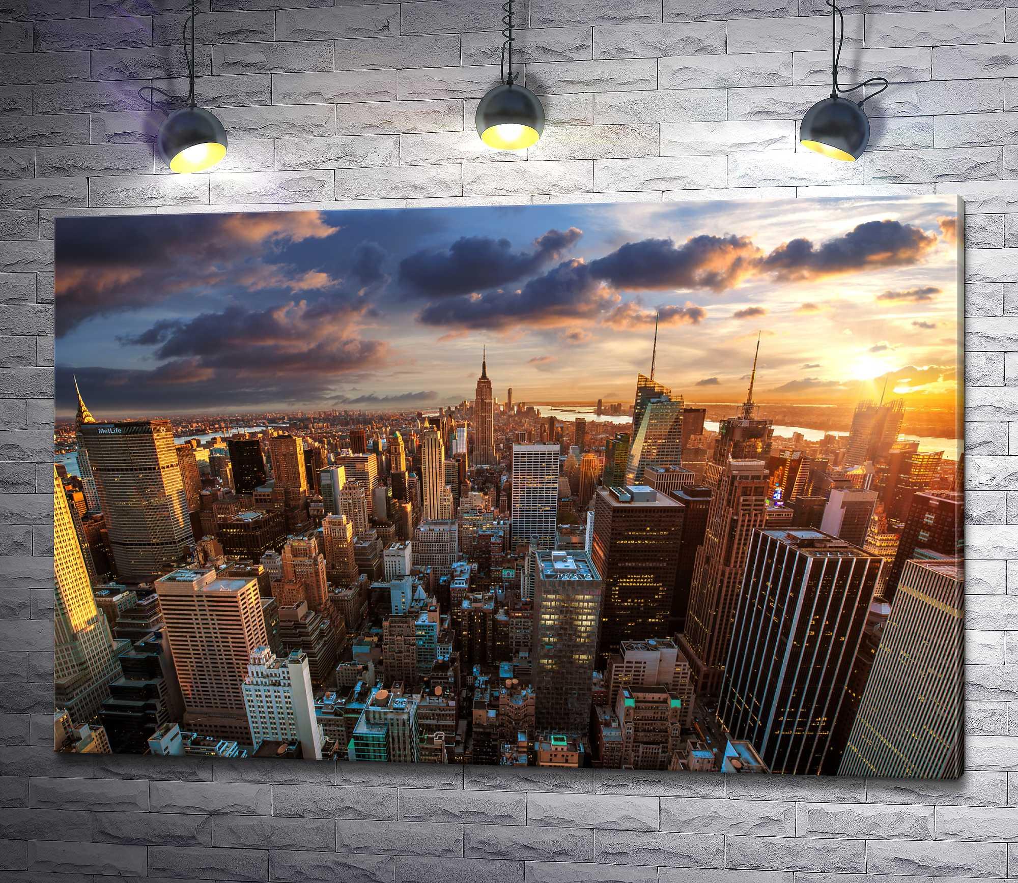 """Картина """"Панорамный вид на Эмпайр-стейт-билдинг. Нью-Йорк"""""""