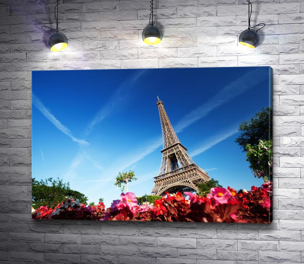 """Картина """"Париж весной. Фото с Эйфелевой башней"""""""