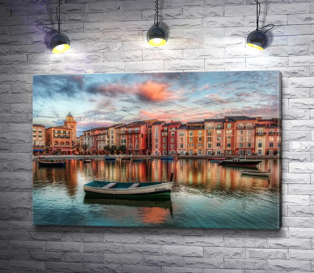 """Картина """"Одинокая гондола, Венеция"""""""