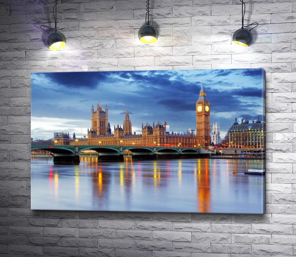 """Картина """"Вид на Темзу. Биг Бен. Лондон"""""""