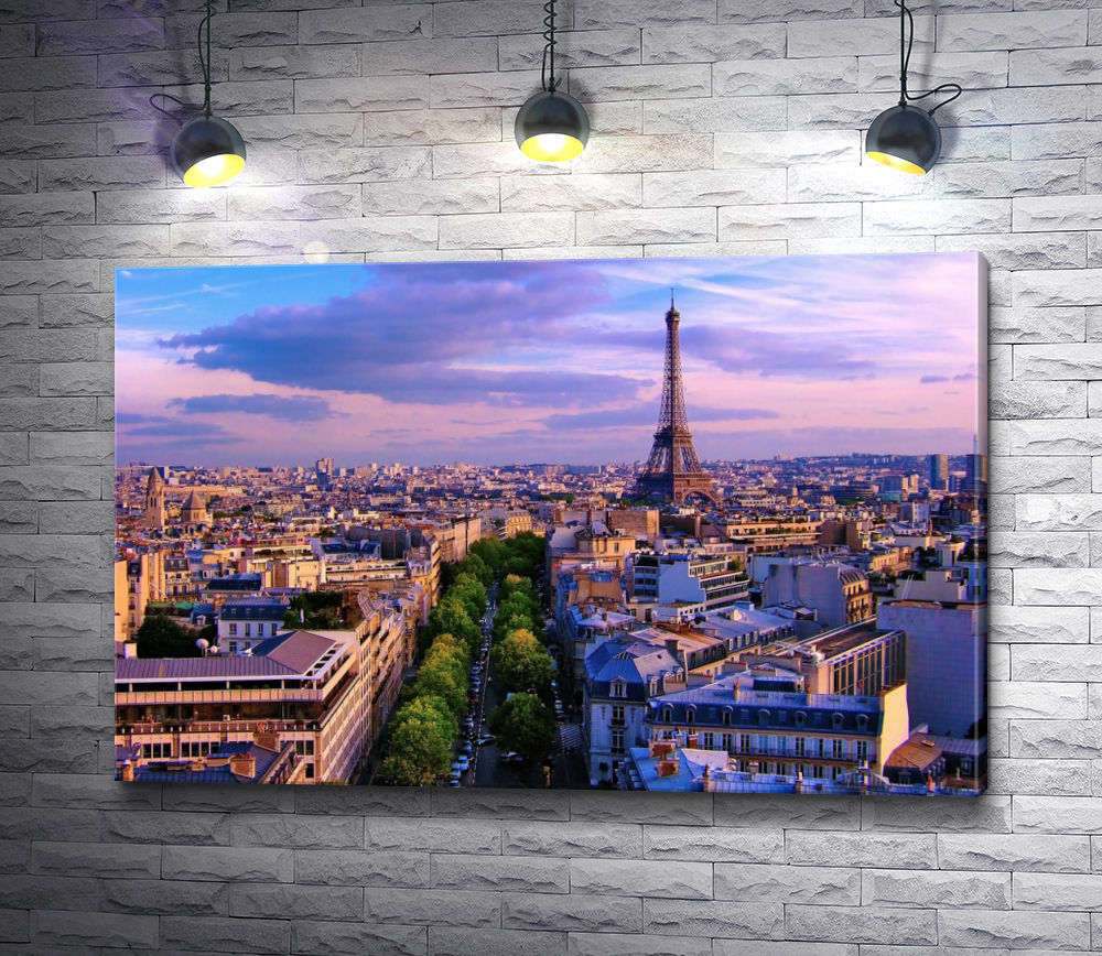 "Картина ""Панорама Парижа. Эйфелева башня"""