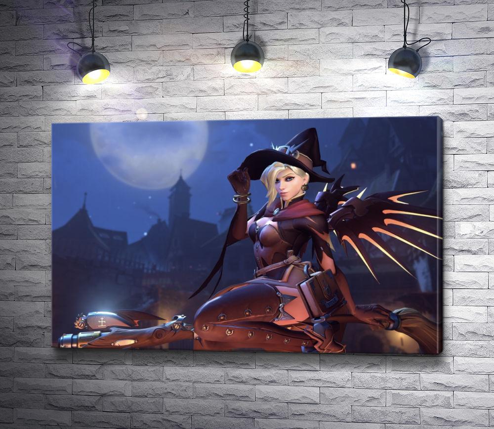 """Картина """"Ангел из Overwatch - «Ужасы на Хэллоуин»"""""""