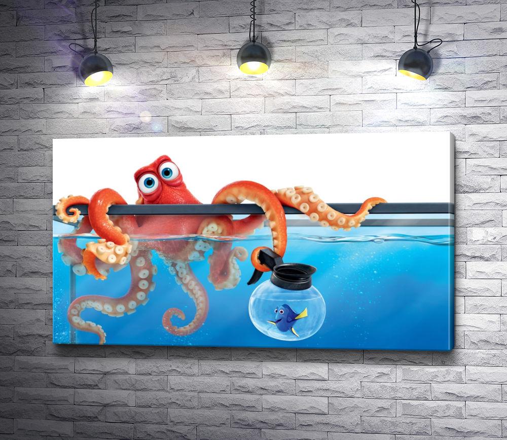 "Картина ""Осьминог Хэнк в аквариуме ""В поисках Дори"""""