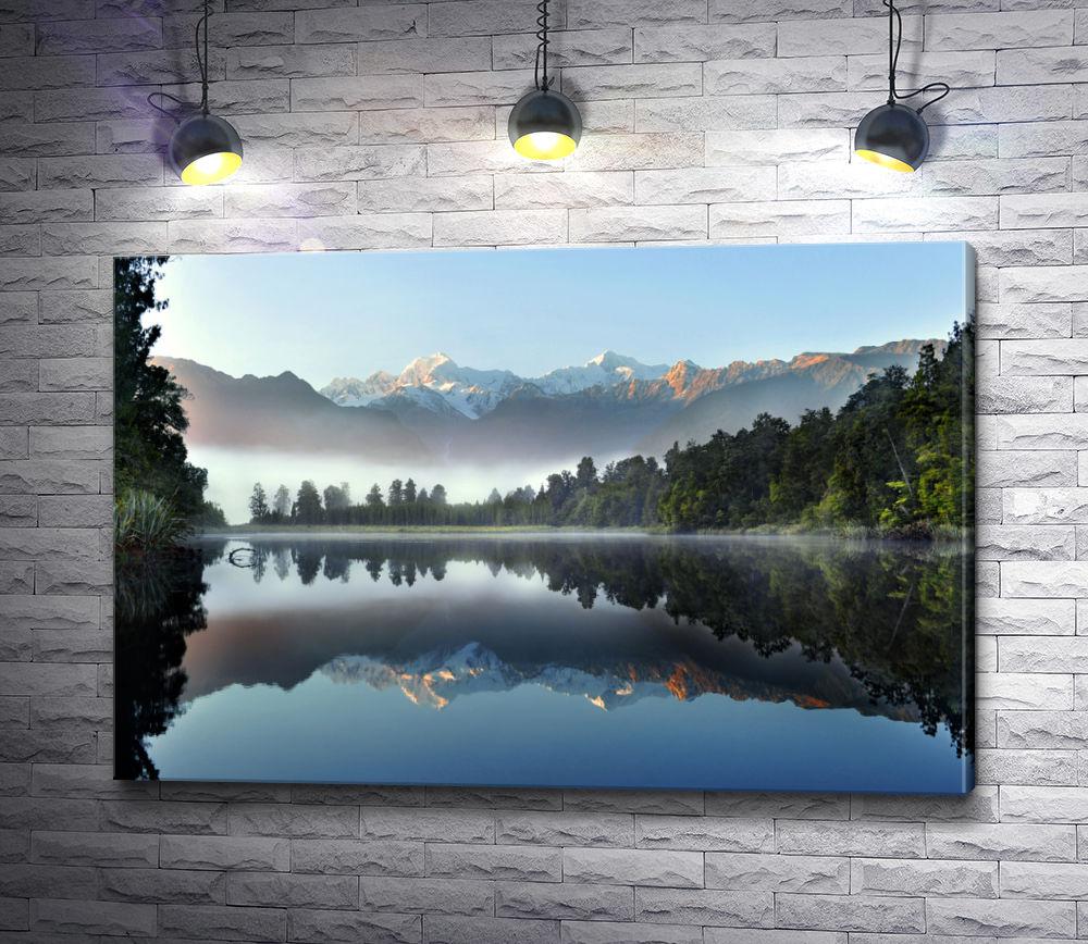 """Картина """"Озеро Мэтисон на фоне гор. Новая Зеландия"""""""