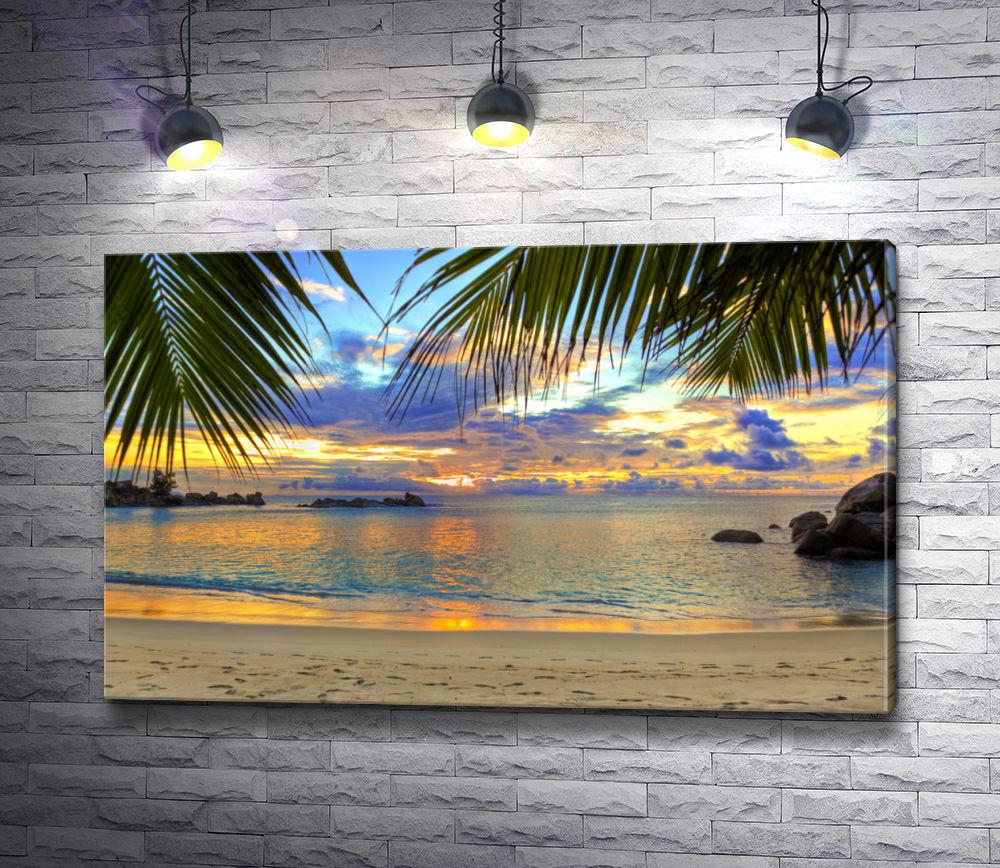 "Картина ""Закат на тропическом пляже"""