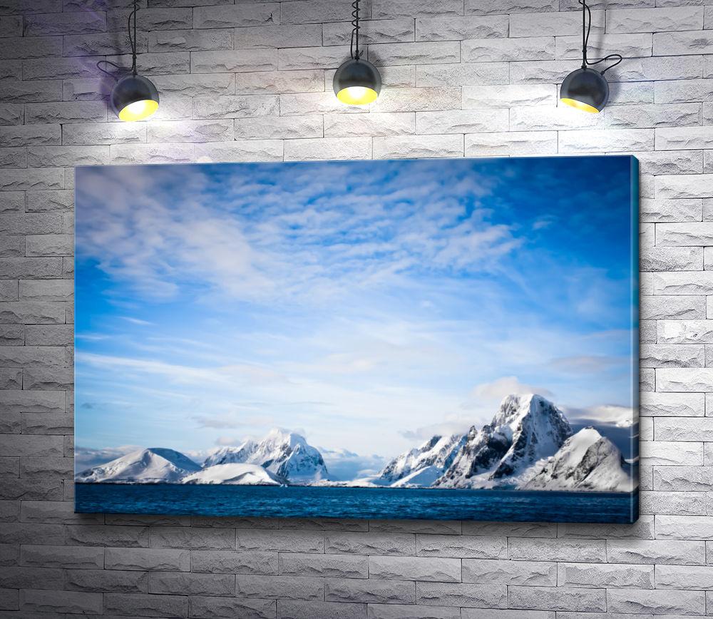 """Картина """"Небо с облаками на фоне гор"""""""