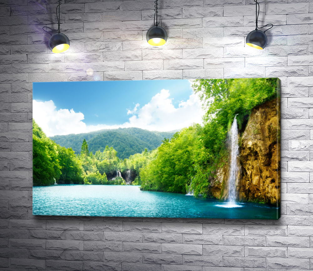 "Картина ""Водопады на Плитвицких озёрах. Хорватия"""