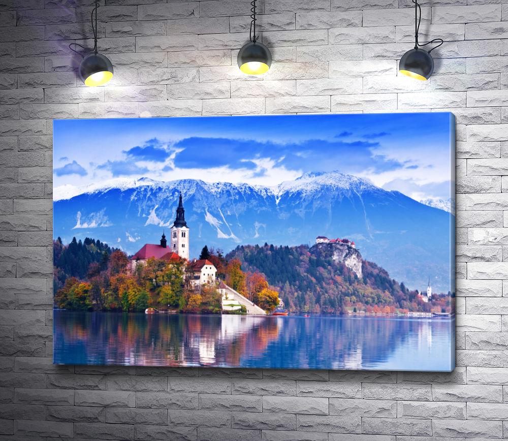 """Картина """"Средневековый замок в Словении"""""""