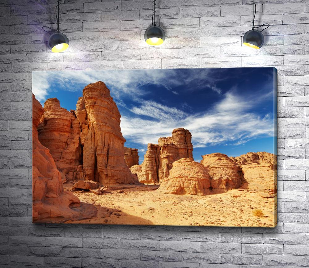 "Картина ""Песчаные скалы в пустыне Сахара"""