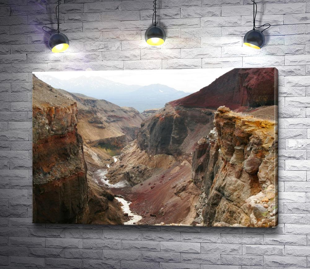 "Картина ""Горное ущелье на Камчатке"""