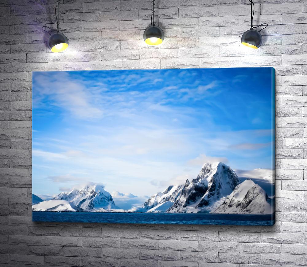 """Картина """"Снежные горы в Антарктике"""""""
