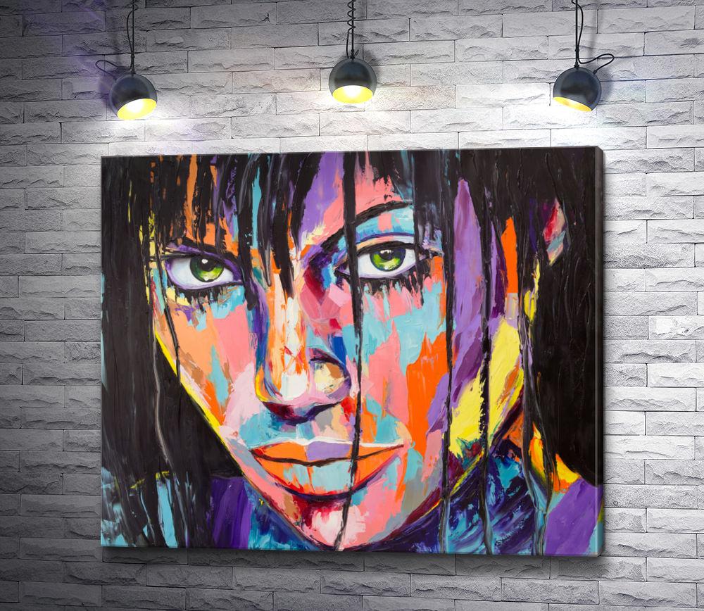 """Картина """"Девушка в красках"""""""