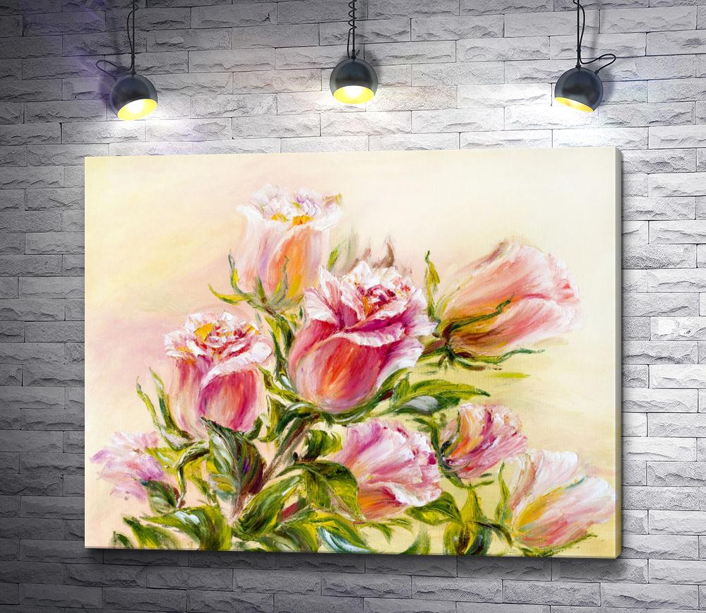 """Картина """"Весенние розы. Акварель"""""""