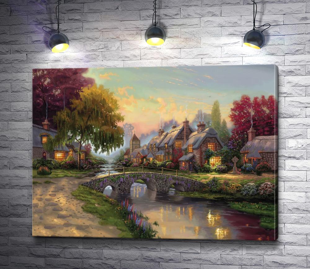 """Картина """"Сказочные домики в лесу"""""""