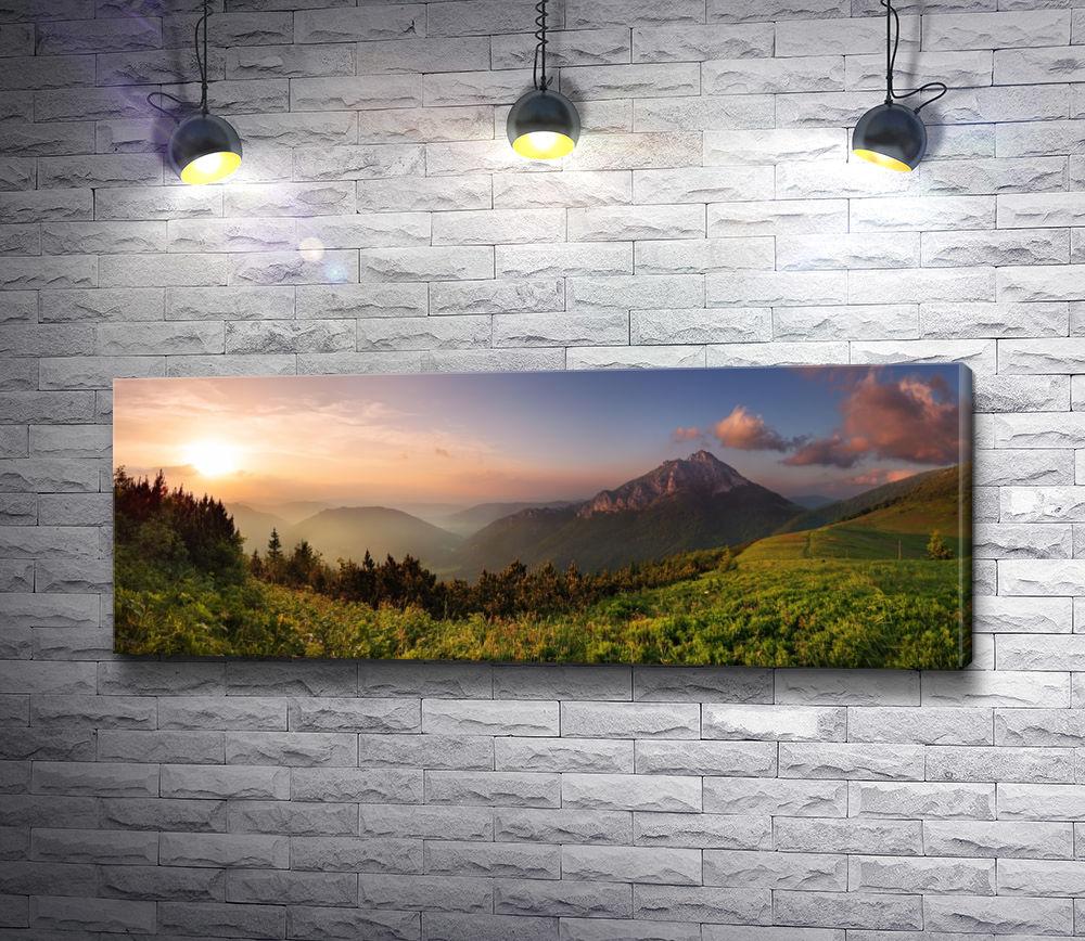 """Картина """"Восход солнца в горах"""""""