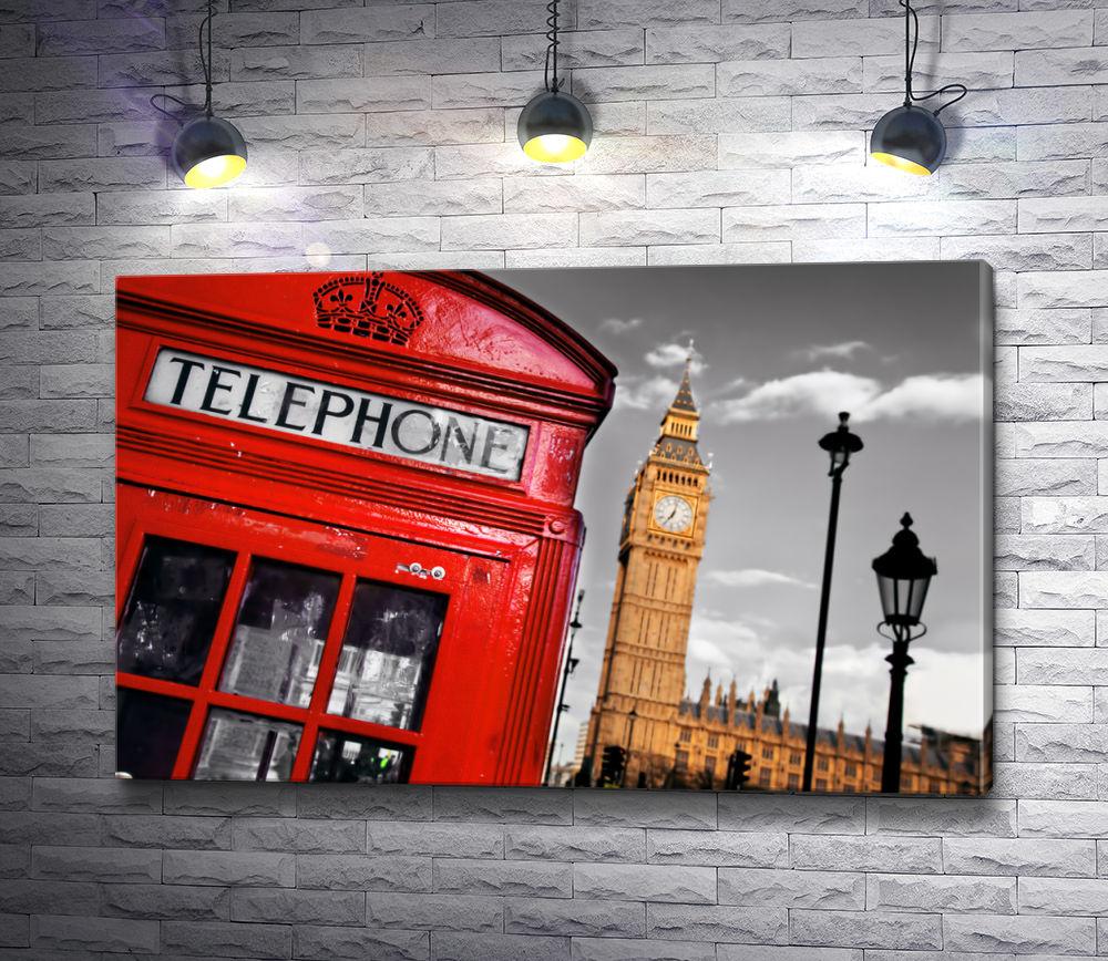 """Картина """"Лондонская телефонная будка"""""""