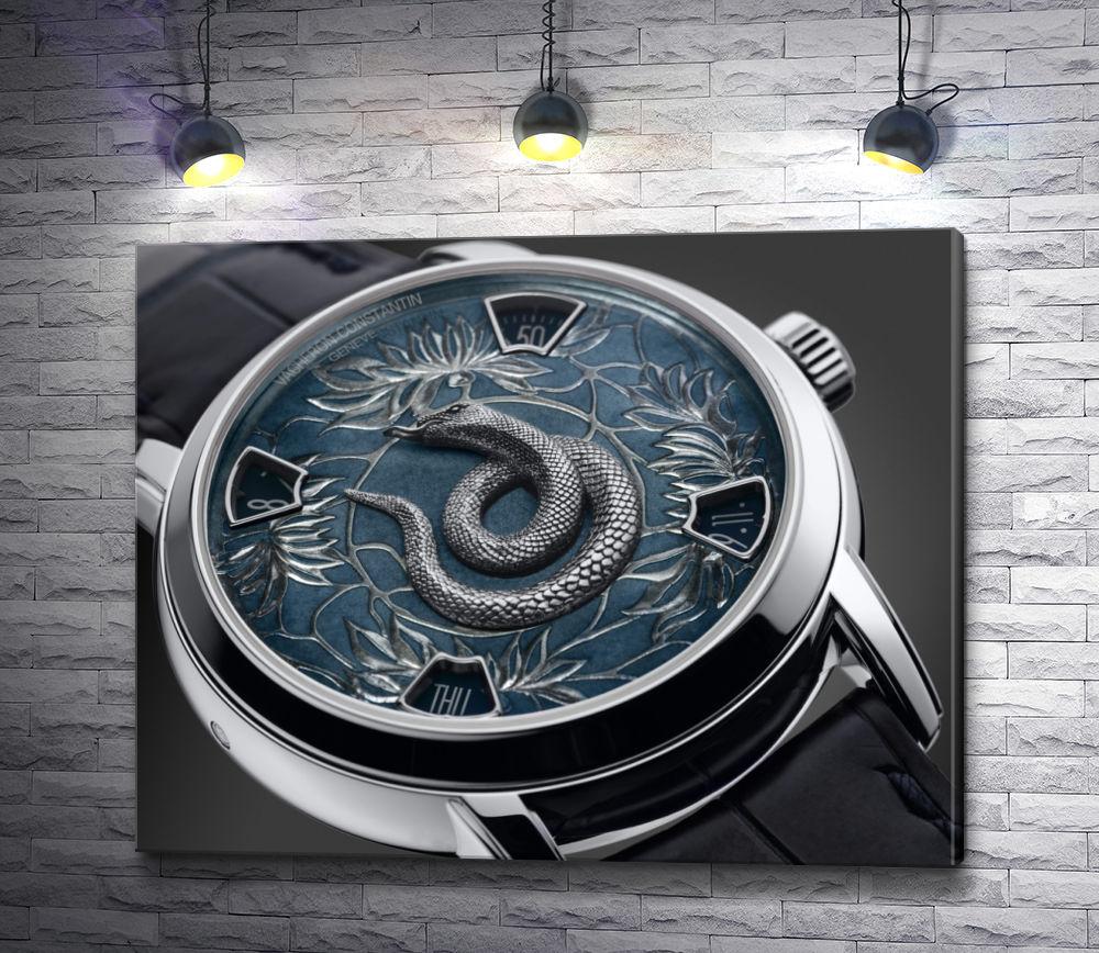 """Картина """"Стильные часы со змеей на циферблате"""""""