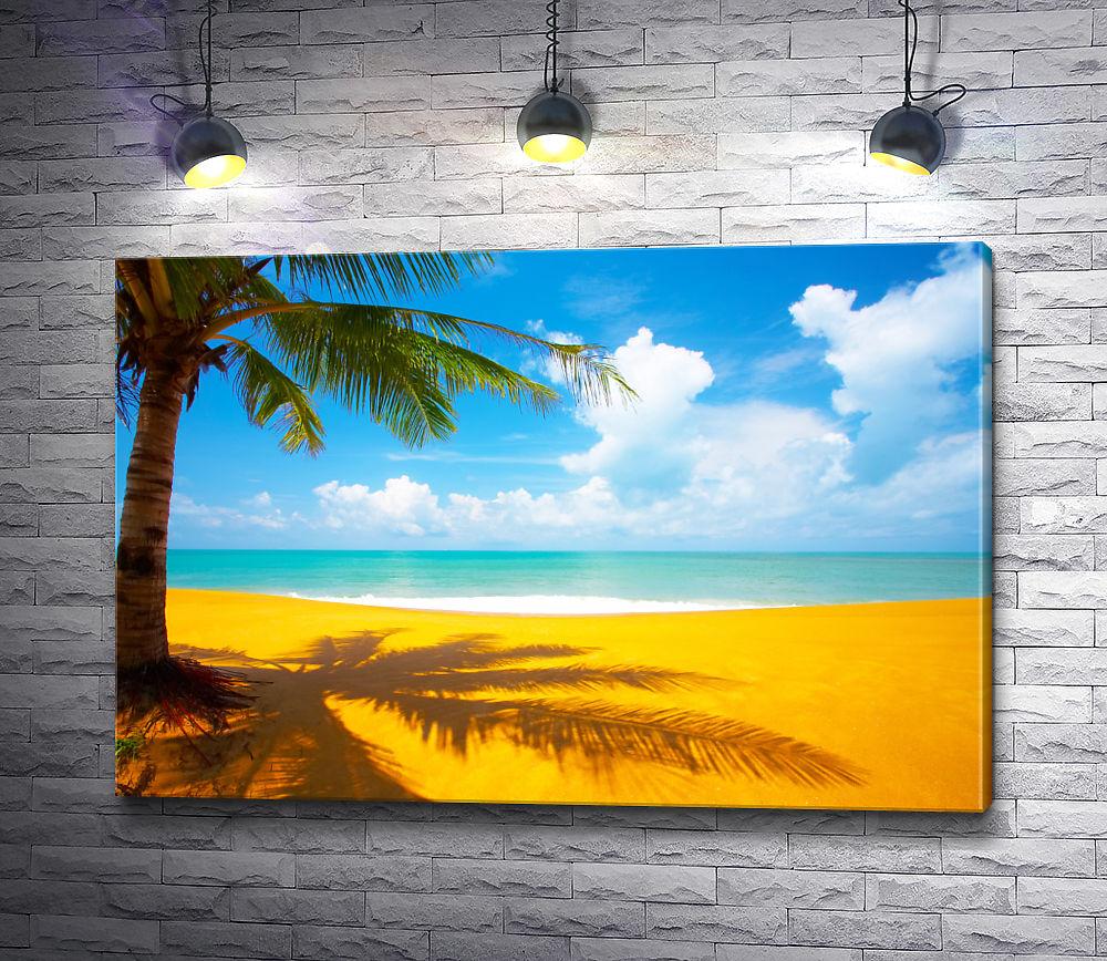 "Картина ""Тропики. Желто-голубой пейзаж"""