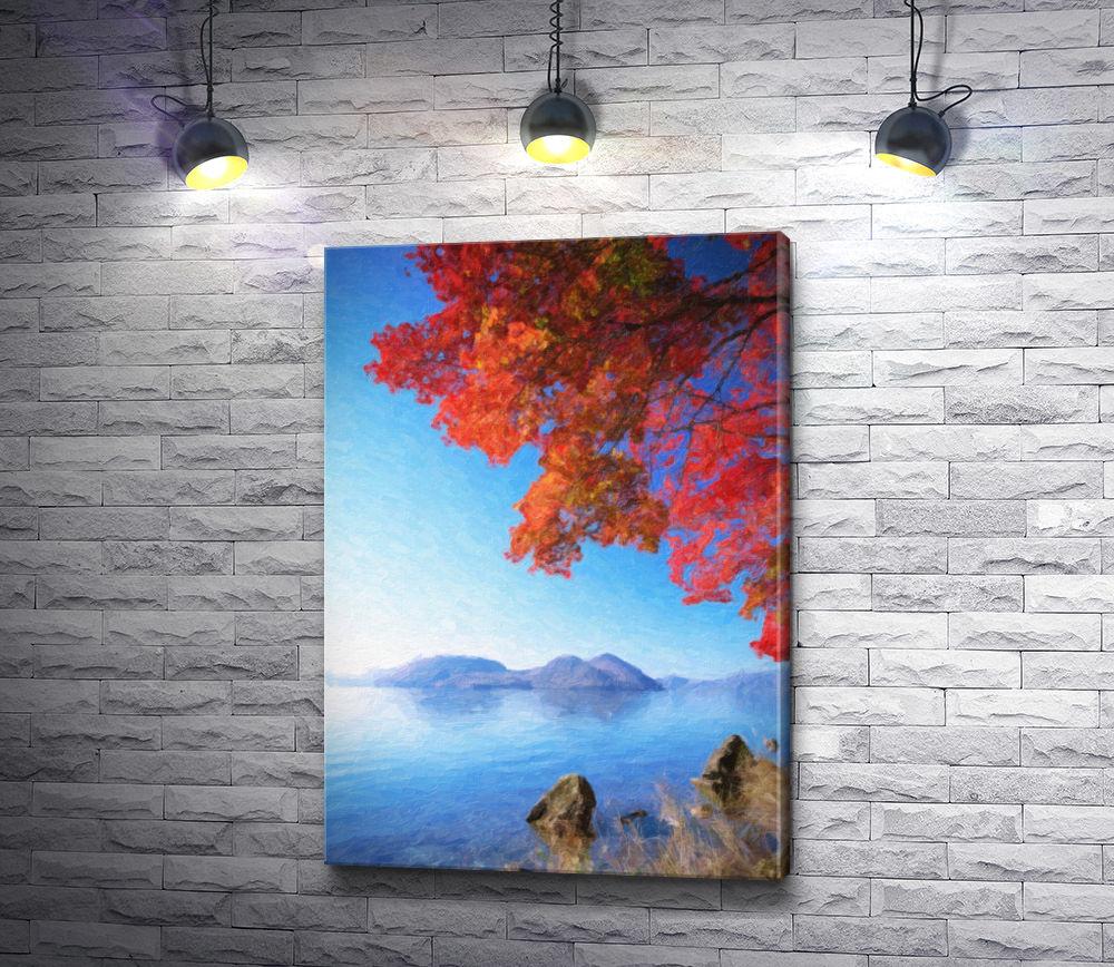 "Картина ""Осень на побережье"""