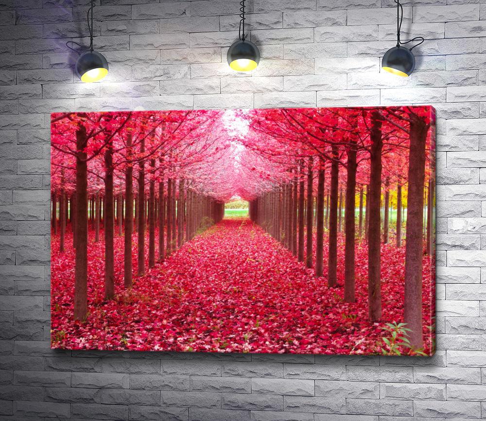 """Картина """"Аллея с красными листьями"""""""