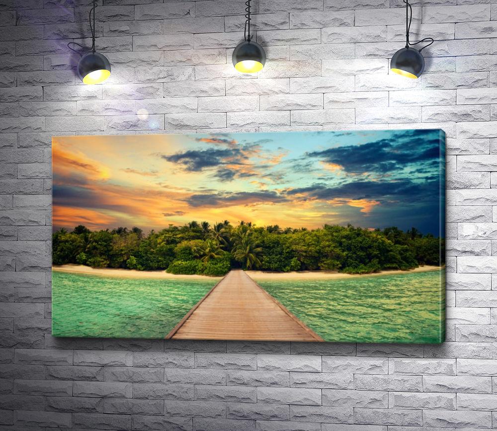 "Картина ""Закат над тропиками"""