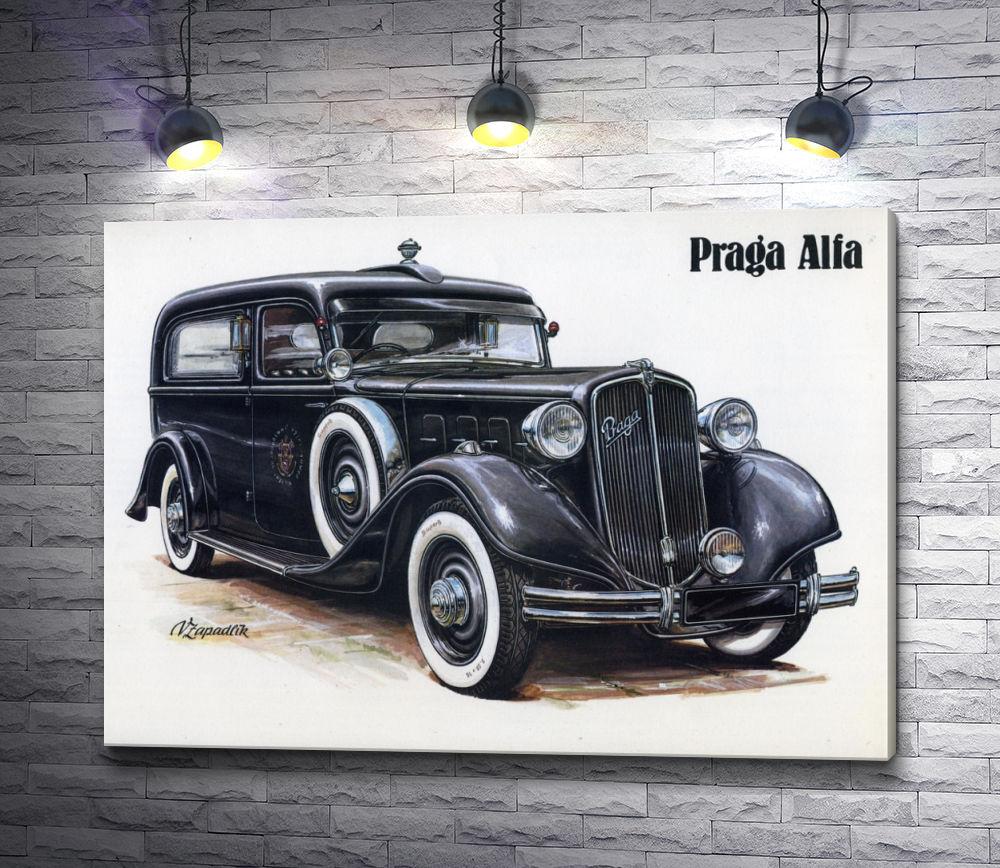 "Картина ""Ретро авто Praga Alfa"""