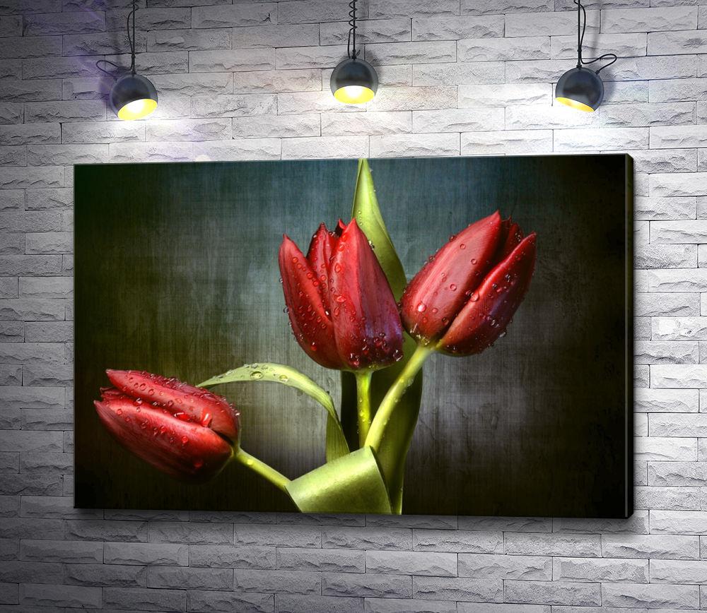 """Картина """"Тюльпаны цвета бордо"""""""