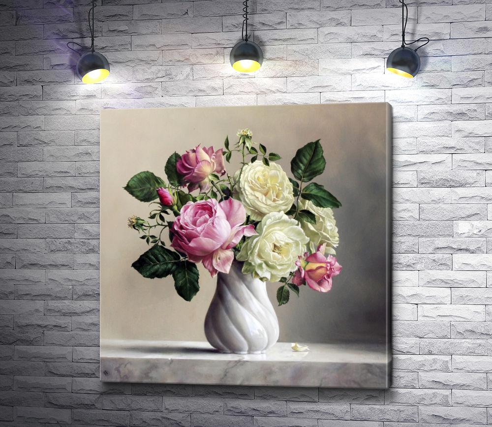 """Картина """"Нежные цветы в вазе"""""""