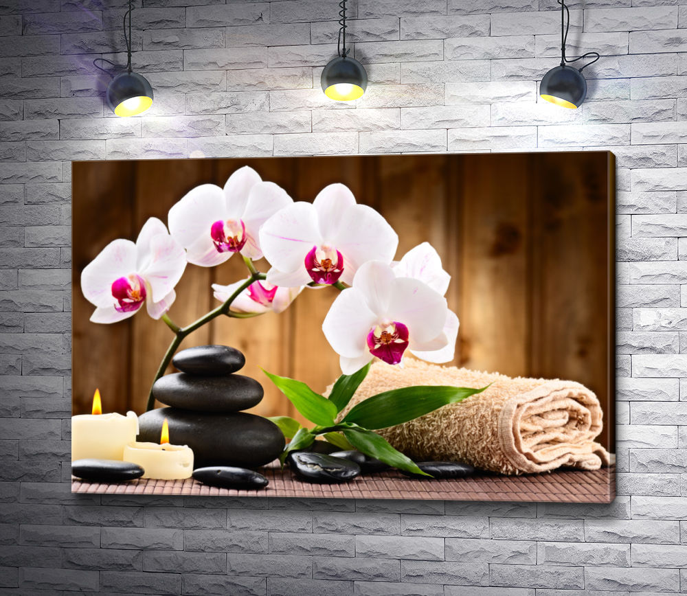"""Картина """"Спа композиция с орхидеями"""""""
