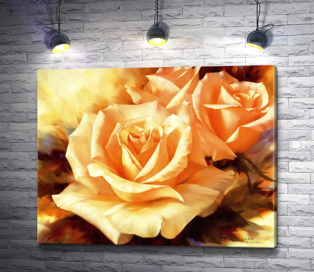 """Картина """"Три чайные розы"""""""