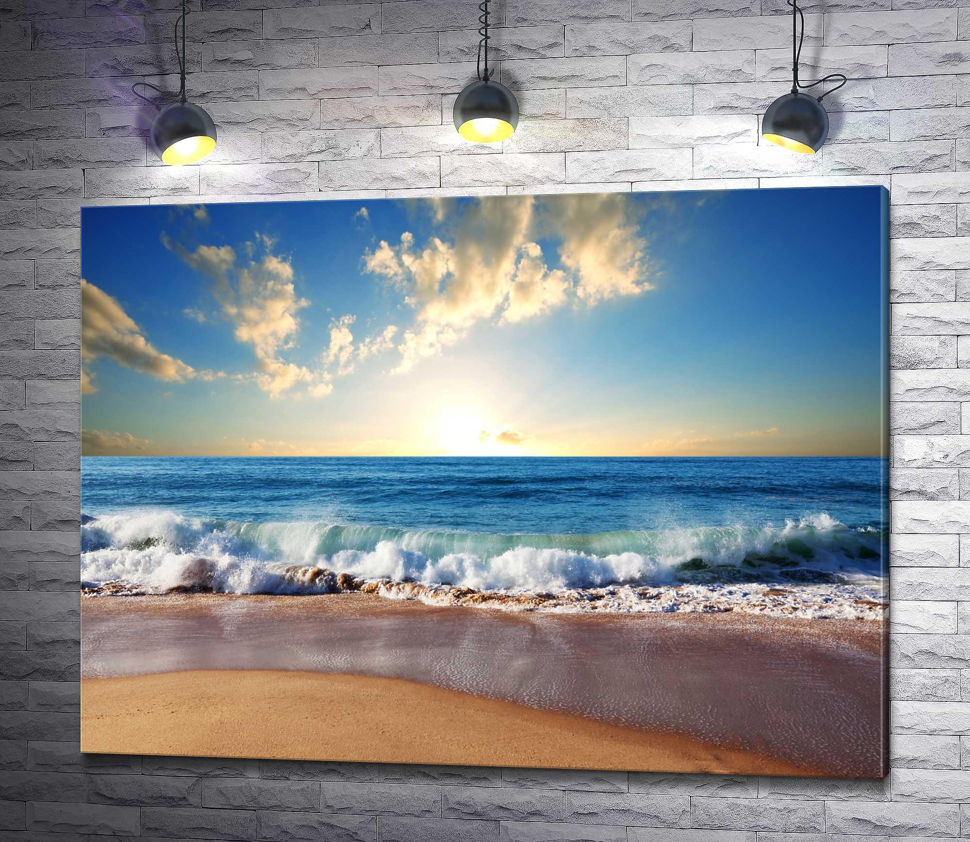 """Картина """"Пляж на берегу океана """""""