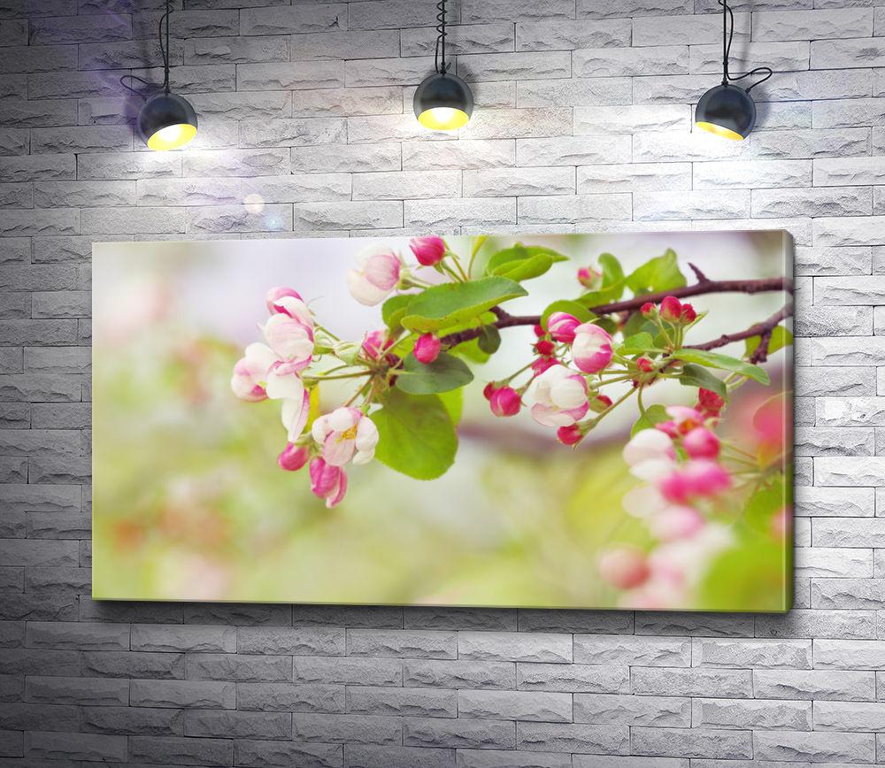 "Картина ""Веточка дерева в цветах"""