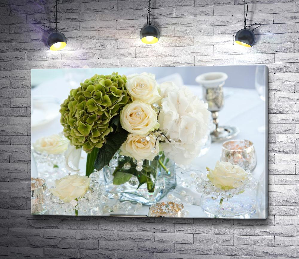 """Картина """"Свадебная композиция с цветами"""""""