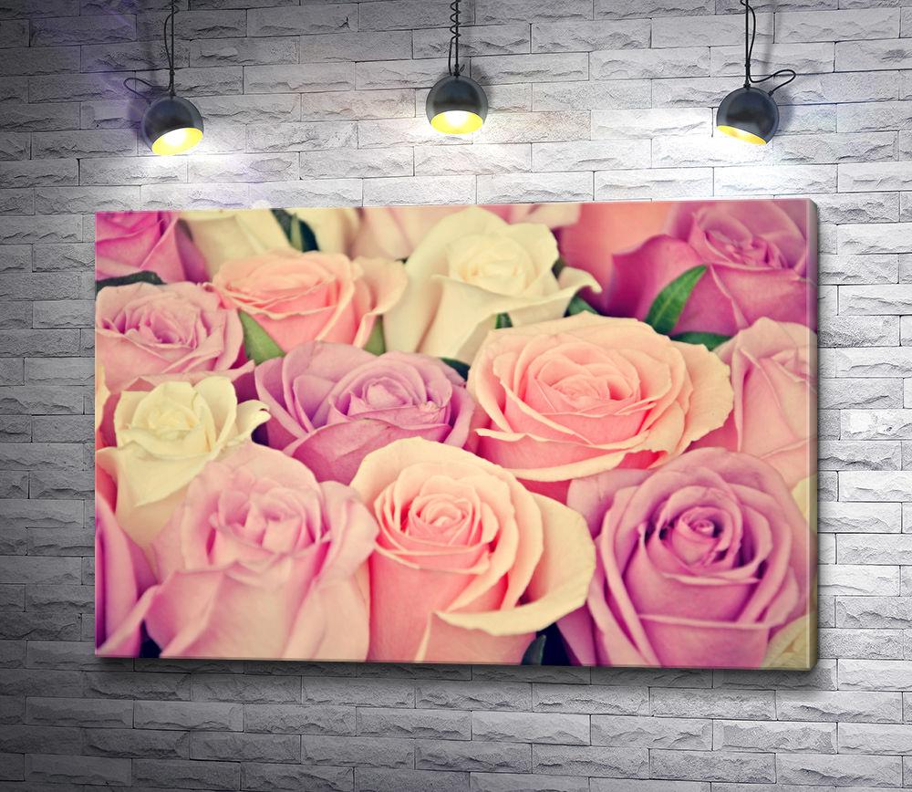 """Картина """"Красивые розы на холсте """""""